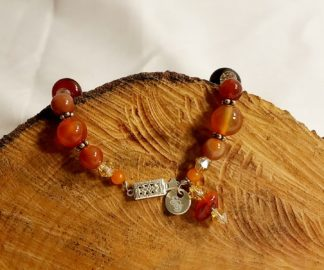 Red Agate and Crystal