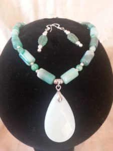 Amazonite and Green Agate