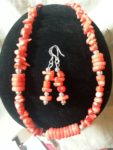 Coral and Red Howlite