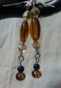 Faux amber and topaz