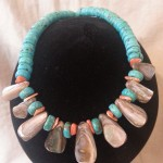 Magnesite , Mother of Pearl and Paua