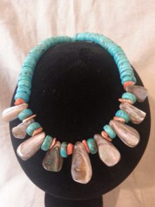 Magnesite, Mother of Pearl and Paua