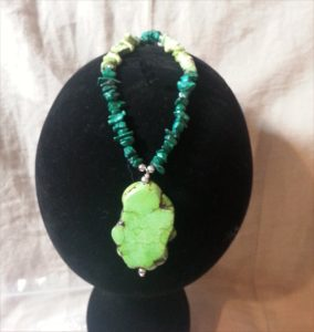 Malachite and Apple Green Chalk Turquoise