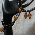Orange and Black Floral