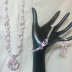 Pink Crystal Dragonfly set