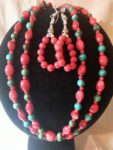 Red Bamboo Coral and Turquoise