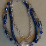 Blue Lapis and Quartz Crystal Brace