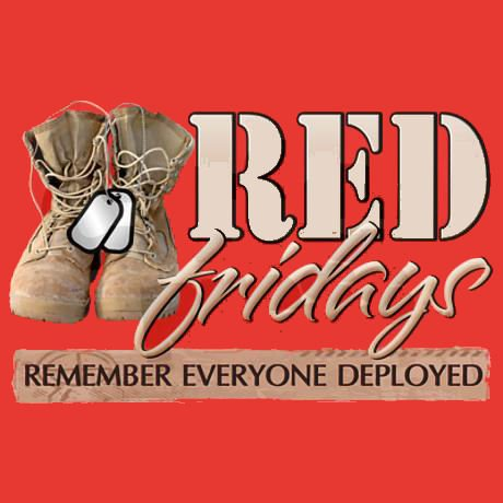 Grand re opening plus red friday equals a good thing for Red support our troops shirts