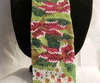Beaded Poinsettia Tie